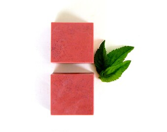 PEPPERMINT Soap - All Natural Soap Herbal Soap Vegan Shea Butter Soap with Peppermint Essential Oil Rustic Soap Natural Bar Soap Bath Soap