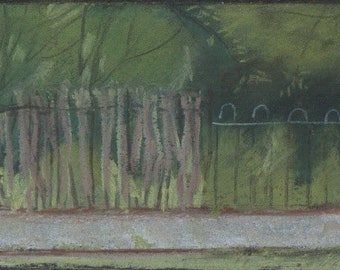Fence and Trees, drawing