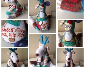 Keepsake Animal - Reindeer from your Baby Clothes
