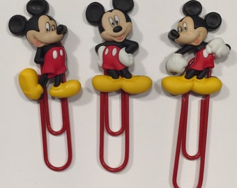 Mickey mouse inspired bookmarks, mickey mouse inspired planner clips, mickey inspired planner clips, mickey inspired filofax clips