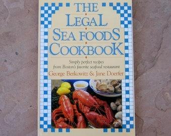 Seafood Cookbook, The Legal Sea Foods Cookbook, Bostons' Legal Sea Foods Restaurant Cookbook, 1988 Vintage Cookbook