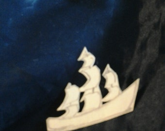 Tiny sailing ship
