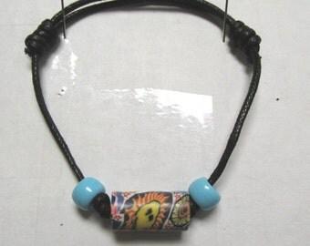 OOAK Hand Made Retro Psychedelic Bead Adjustable Bracelet 02