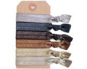 PEBBLE Elastic Hair Ties, Ponytail Holders, Stretchy Ribbon Hair Ties, Elastic Hair Accessories, Yoga Hair Ties, Boho