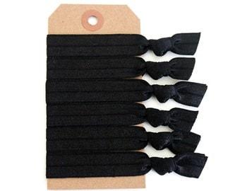 NOIR Elastic Hair Ties, Ponytail Holders, Stretchy Ribbon Hair Ties, Elastic Hair Accessories, Yoga Hair Ties, Boho