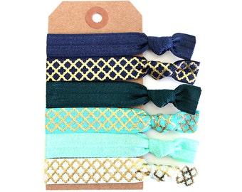 TROPIC 6 Elastic Hair Ties, Ponytail Holders, Stretchy Ribbon Hair Ties, Elastic Hair Accessories, Yoga Hair Ties, Boho