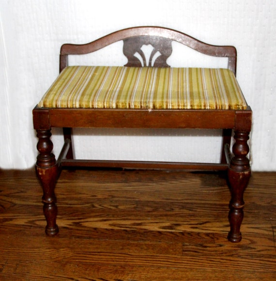 Antique vanity bench 28 images antique bench vanity bench newly upholstered in appaloosa - Antique vanity stools ...
