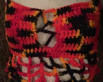 Crochet Multi color bikini top