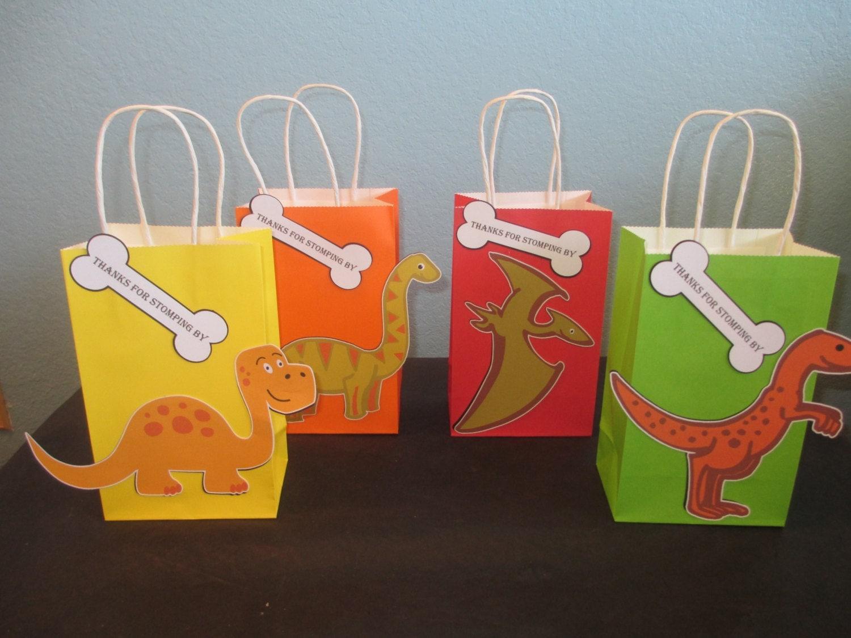 Dinosaur goody bags10Dino BagsDino Birthday PartyDino