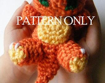 PATTERN Baby Charmander Pokemon Chibi Crochet Amigurumi PATTERN