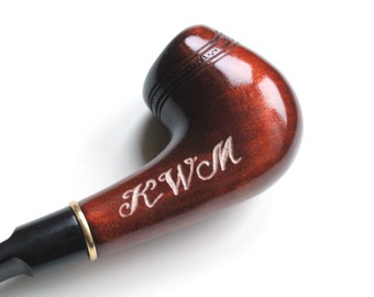 Engraving of any pipe in my shop, that you choose by yourself, custom gift with your text, initial gifts
