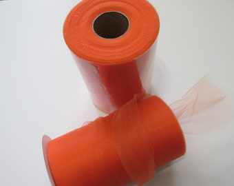 Orange Tulle Fabric 100 Yards