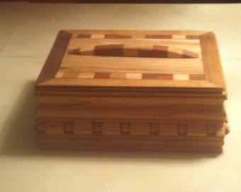 Handmade tea box, wooden tea box, Jewelry box, wedding gift, birthday gift, present