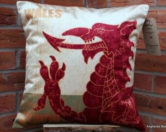 Welsh Dragon Cushion , Welsh Dragon Pillow , Dragon Cushion , Dragon Pillow