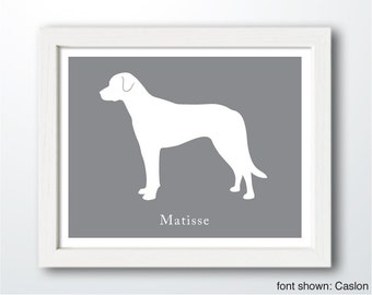 Personalized Anatolian Shepherd Silhouette Print with Custom Name