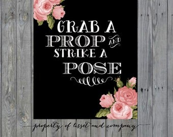 8 x 10 Grab a Prop and Strike a Pose Print