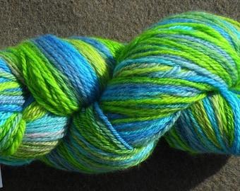 "Handspun yarn - ""Spring Awakening"", 130 g, 340 m, 2 ply - Chubut"