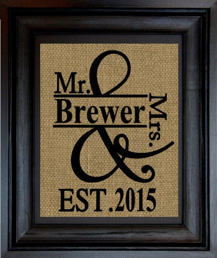 Wedding Gift Anniversary Gift Mr And Mrs By Printedforkeeps