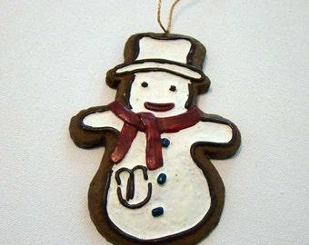 Snowman, snowman ornament, snowman cookie ornament, christmas ornament, snowman christmas ornament, frosty the snowman