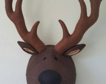 SIDNEY STAG - Faux Taxidermy Felt Wall Mounted Animal Head
