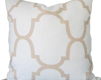 Designer Decorative Pillow Cover-Accent Pillow -Kravet-Riad Ivory-Sofa Pillow-Toss Pillow-Throw Pillow-Single Sided
