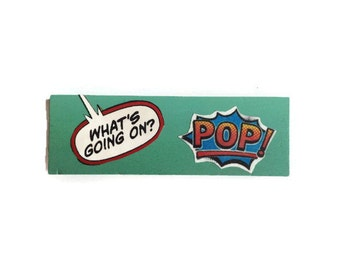 POP | What's Going On | Fridge Magnet | BLUE | Comic Book | Home Decor | Office magnet | Recycled Gift |  For Him | For Her