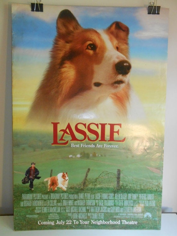 Lassie 1994 Original Double Sided Movie Poster 27x40