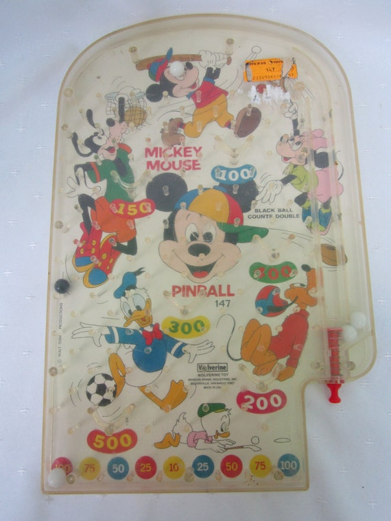 Best Disney Toys And Games For Kids : Items similar to mickey mouse pinball game vintage
