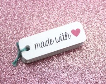 made with love tags - gift tags