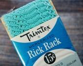 Vintage Rick Rack Trim By Trimtex - Tiny Rick Rack In Aqua Blue + FREE GIFT!!!