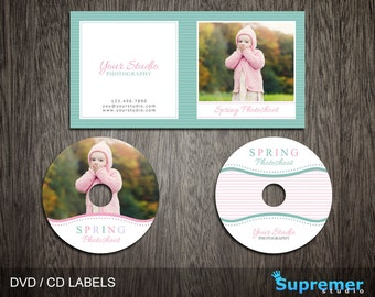 Spring CD Cover Template - cd Label Template - dvd Cover Template PSD - dvd Label Template - cd Case Photoshop PSD Template CD004