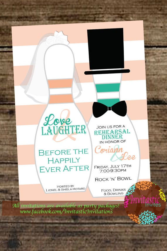 Rehearsal Dinner InvitationBowling Theme Rehearsal Dinner – After Rehearsal Dinner Party Invitations