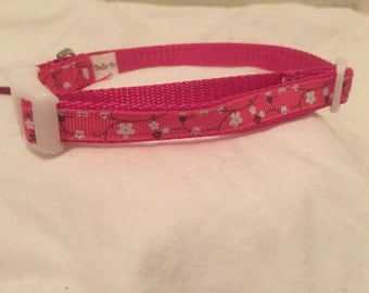 Small Dog Collar ~ Cherry Blossoms