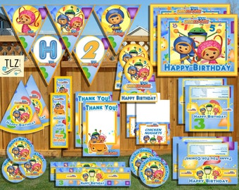 Team Umizoomi Birthday Package - Printable Digital Files