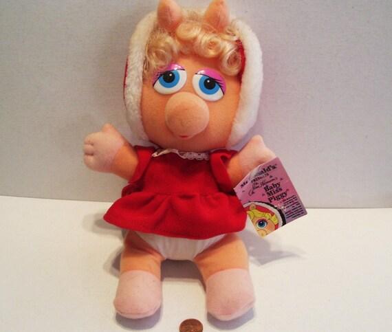 1988 McDonald's Christmas Baby Miss Piggy 10 1/2
