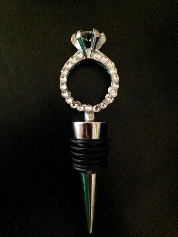 Wedding Ring Style Wine Bottle Stopper By SparkleNShineCC On Etsy
