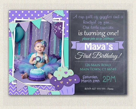 First Birthday Invitation Printable Download St Birthday - Digital first birthday invitation