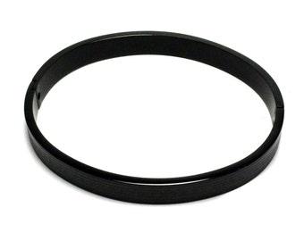 Mens Black Stainless Steel Pattern Style Bangle Bracelet Fashion Jewelry