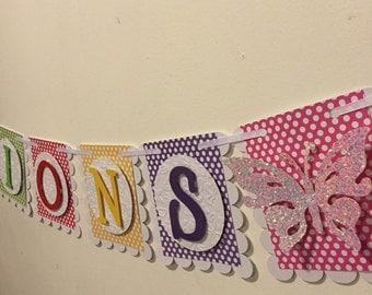Polka dot Butterfly banner