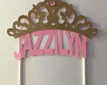 Princess cake topper/ name topper