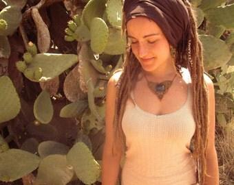 Sister Venus Rainbow Obsidian Earth Roots Tribal Gipsy Boho Makramee Necklace