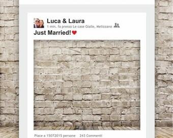 digital file-facebook post frame for wedding photos-wedding photo booth