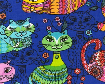 Half Metre Patchwork Quilting Fabric Timeless Treasures Fun-C9218-Multi Cats
