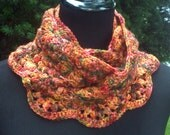 The Clockwork Pumpkin, crocheted Circle Scarf/Cowl