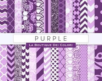 Digital paper Purple damask. Wedding Purple. Scrapbook paper backgrounds patterns for commercial use clipart lilac lavender