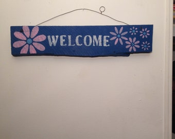 Welcome Reclaimed Wood Sign