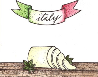 """Greeting Card/Pun Cards - Set of 5 - """"Italian Provolone"""""""