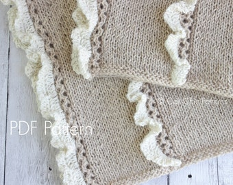 Knitting PATTERN 31 - Camille - Knitting Baby Blanket PATTERN 31 - Baby show gift