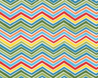 BLOOMIN' FRESH - Spring Chevrons in Rainbow Multi - Cotton Quilt Fabric - designed by Deb Strain for Moda Fabrics - 19665-11 (W2766)