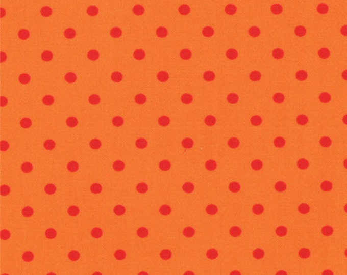 One Yard Bloomin' Fresh - Bloomin' Dots in Poppy Orange - Cotton Quilt Fabric - designed by Deb Strain for Moda Fabrics - 19669-15 (W2774)